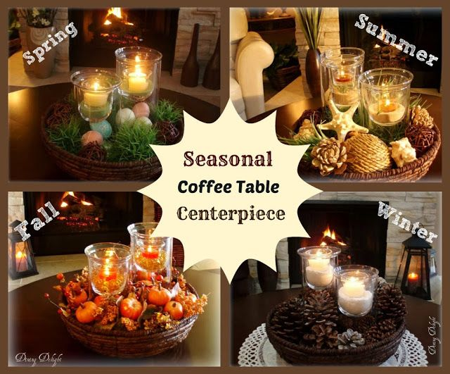 Dining Delight: Fall Coffee Table Centerpiece
