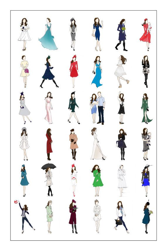 Kate Middleton Duchess of Cambridge Fashion Poster by RepliKateIt, $35.00 So cute.