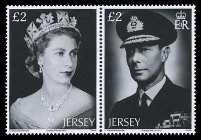 Jersey Diamond Jubilee Stamps