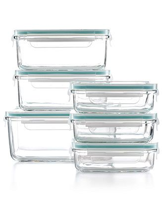 Don't HAVE to be Martha Stewart Collection Food Storage Container Set, 12 Piece Glass - Pantry Organization - for the home - Macy's JUST ANY GLASS FOOD CONTAINERS WITH PLASTIC LIDS!