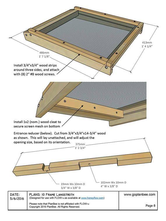 Langstroth Beehive Entrance Reducer 10 Frame