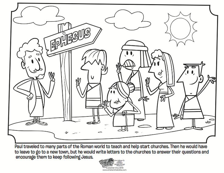 paul and the church coloring page