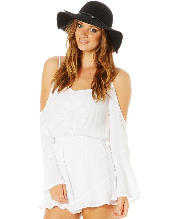 Embroidered Drop Arm Playsuit