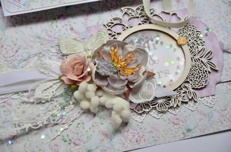 Мой разворот по 2 этапу  СП с Mona Desing   Тех задание - конструкция водопад и (или) шейк - шейк- шейкер!    ОЭ - ленты, чипборд, цветы, ш...