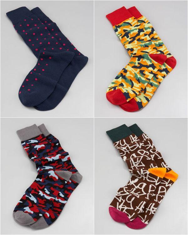 meias coloridas -