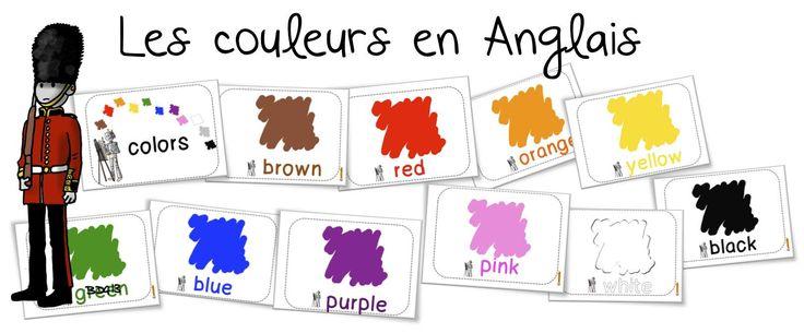 Bout de gomme - Les couleurs en Anglais