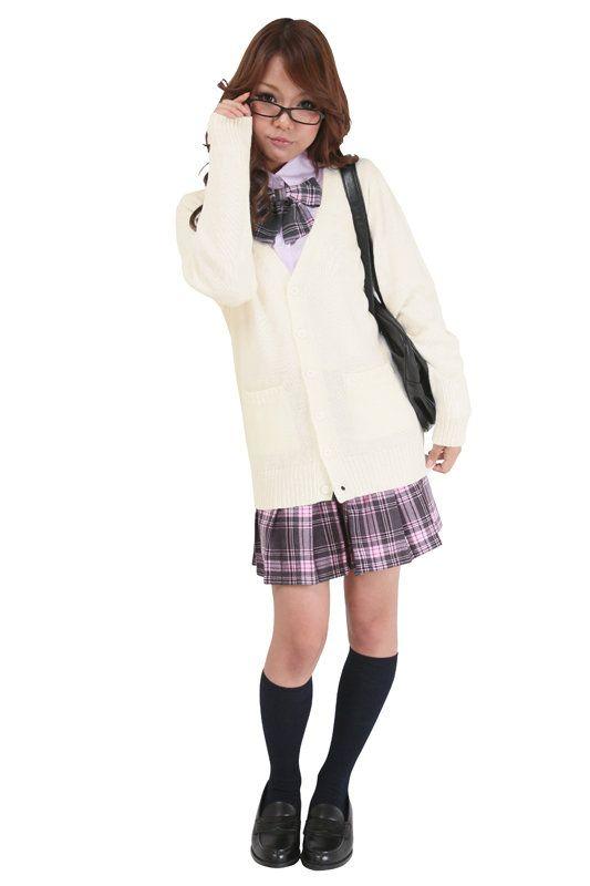 新生活応援プレゼント付き/女子高生/高校/中学/制服TeensEverカーディガン(ホワイト)M/L/LL