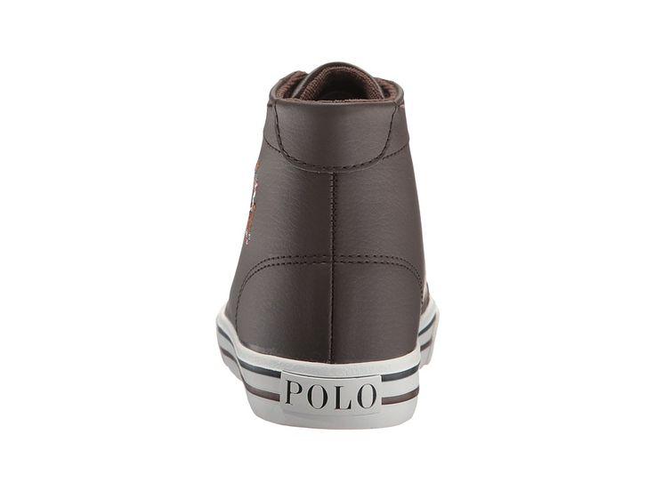 Polo Ralph Lauren Kids Slater Mid (Big Kid) Boy's Shoes Chocolate Tumbled/Multi PP