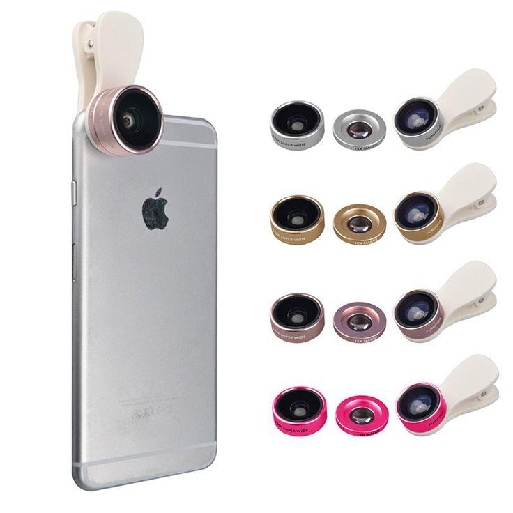 3in1 Clip-on HD Phone Camera Lens Kit Fisheye 0.36X Wide Angle 15X Macro Mobile Lenses For Meizu m3e m2 mini m3s mx4 m2 note //Price: $US $11.46 & FREE Shipping //     #apple