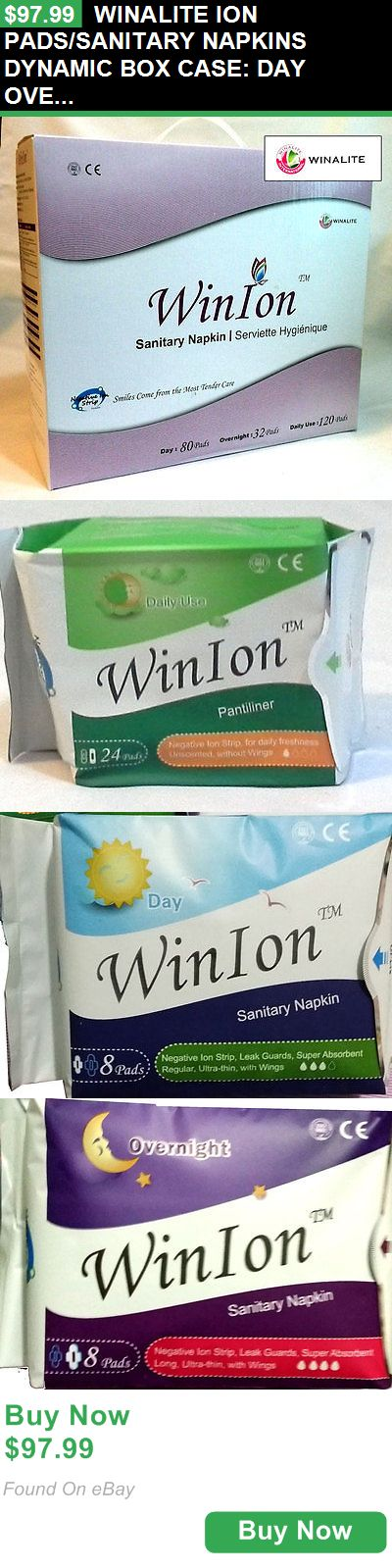 Sanitary Napkins 180947: Winalite Ion Pads/Sanitary Napkins Dynamic Box Case: Day Overnight Daily Use BUY IT NOW ONLY: $97.99