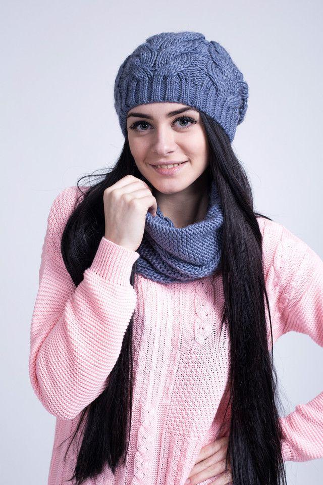 Очаровательный женский комплект из шапочки и шарфа-хомута. - купить по лучшей…