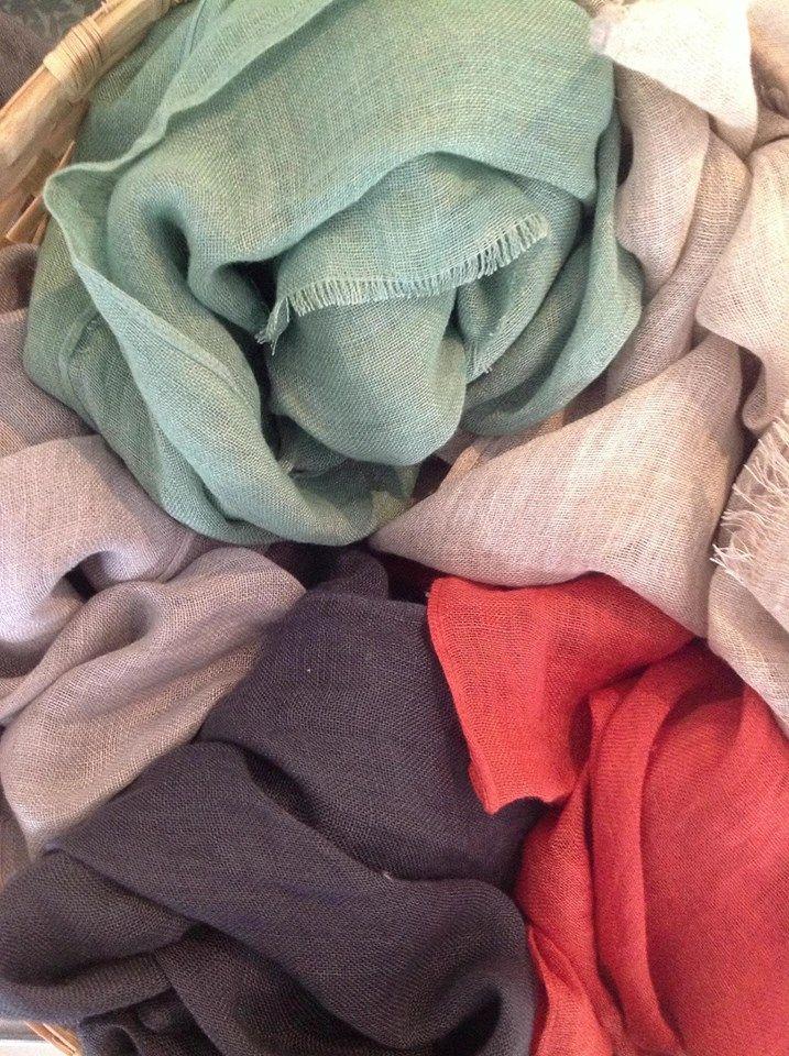 TIKAU linen shawls, summer season 2013 Tikau shop Helsinki