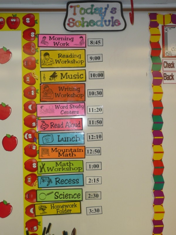 Classroom Schedule Ideas : Images about school schedule and classes el horario