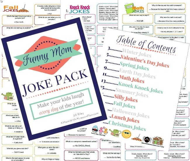 JOKES around the fire pit sounds like a great idea! Funny Mom Joke Pack.. 365 printable jokes for kids