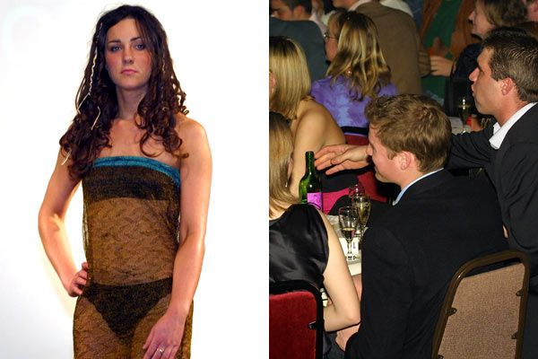 kate at st andrews | Kate Middleton 2002 charity fashion show at St. Andrew's University