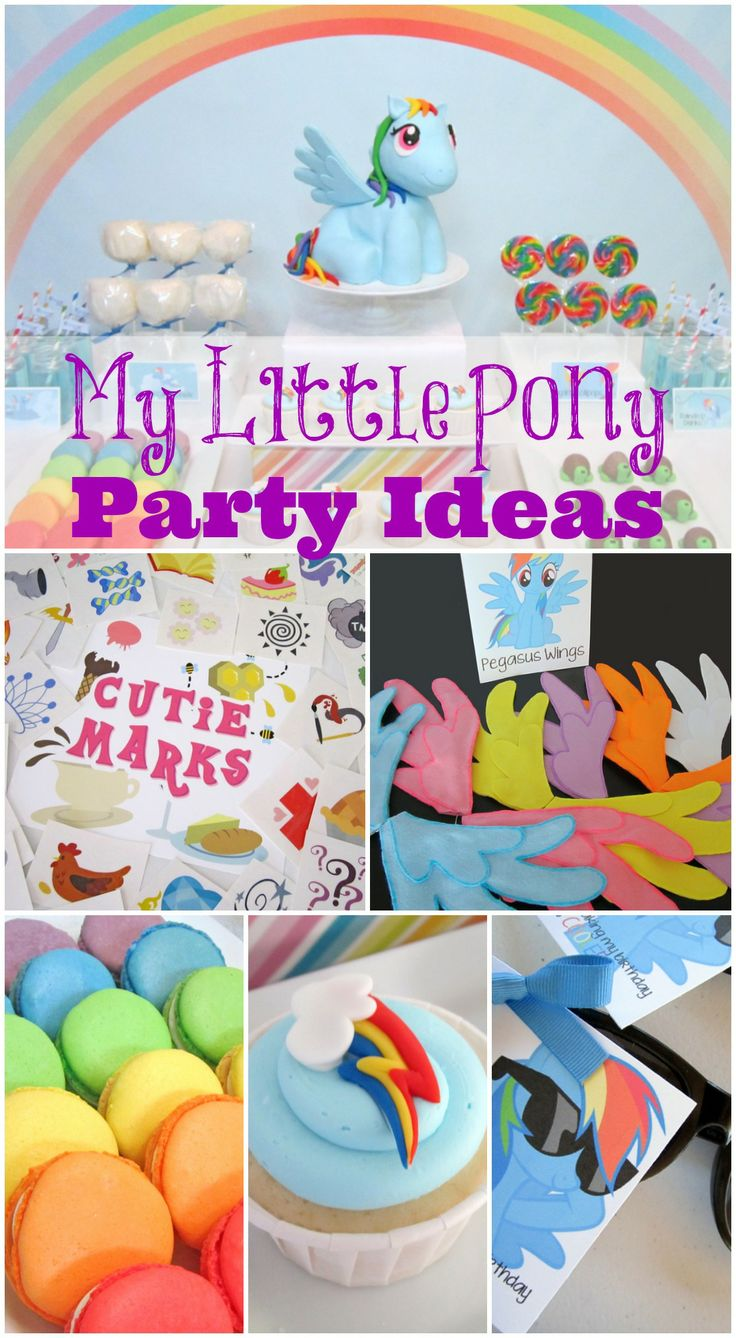 Great My Little Pony girl birthday party ideas! See more party ideas at http://catchmyparty.com/photos/1545490