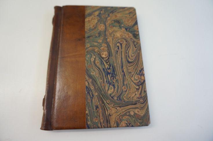 Luxe leren notitieboekje kopen notitieboekjes bestellen notitieboek gemarmerd en handgeschept papier -