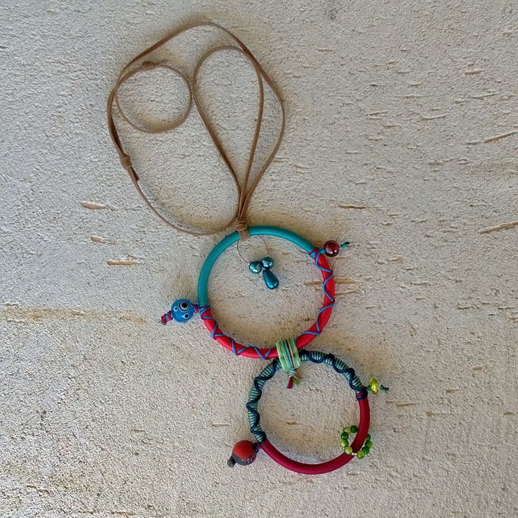 """Winter 2014 Casual collection """"Casual Necklaces"""" Series Circles of life twin-colorful B 80 cm"""