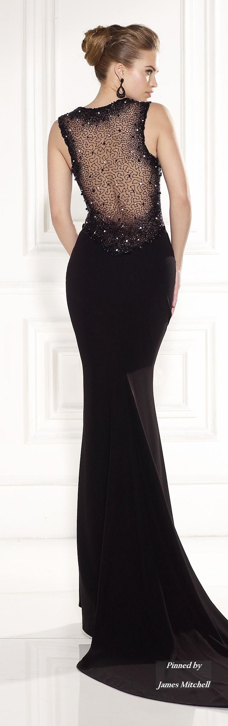 Elegant MG Fashion Black Tie Dresses