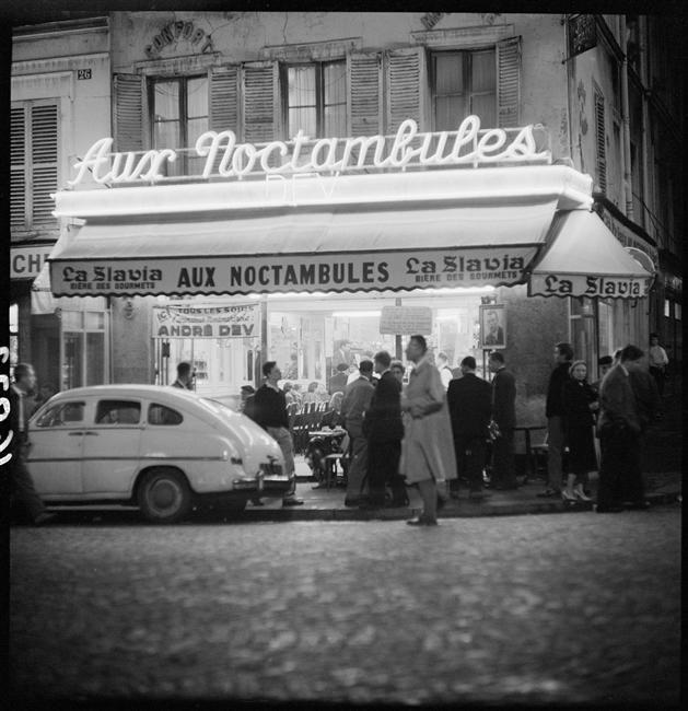 Montmartre la nuit, août 1958 Bovis Marcel