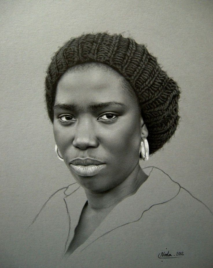 Kate Zambrano {figurative art female head african-american black woman face portrait drawing} - Buscar con Google
