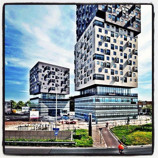 This building is Craze: La Liberte, social housing in Groningen, Netherlands