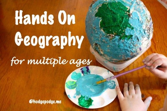 Hands On Geography for Multiple Ages: globes, salt dough maps & more for little ones up to high school