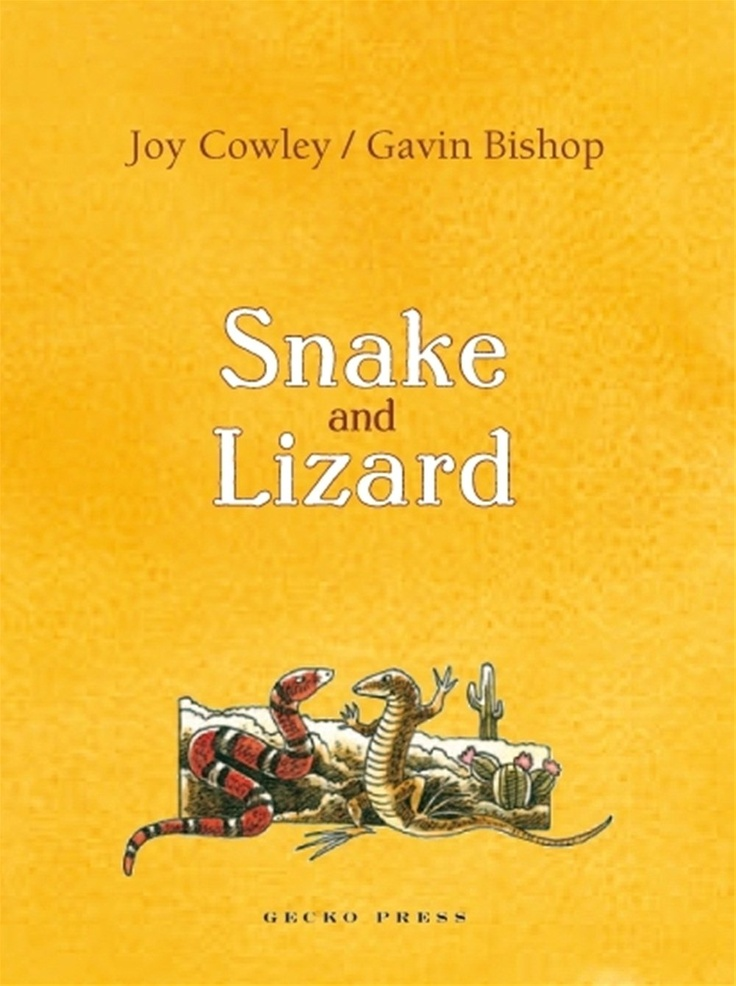 Book cover of 'Snake and Lizard' by Jow Cowley and Gavin Bishop, published by Gecko Press, 2007.