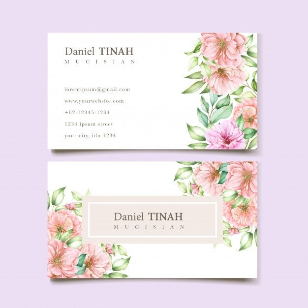 Download Elegant Floral Business Card For Free Floral Business Cards Wedding Florist Logo Watercolour Wedding Stationery