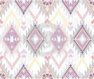 Abstract geometrisch naadloos Azteeks patroon
