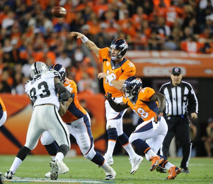 Pretty good protection tonight. Broncos vs. Raiders Sep 23, 2013