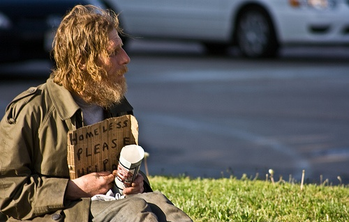 Give a bum some change,cuz by the time you are done visiting,you will have passed at least 20.Visitingyou, Changecuz