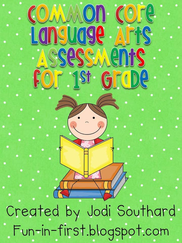 Common Core Math and Language Assessments for 1st grade