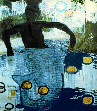 Kerry James Marshall Blue Water Silver Moon