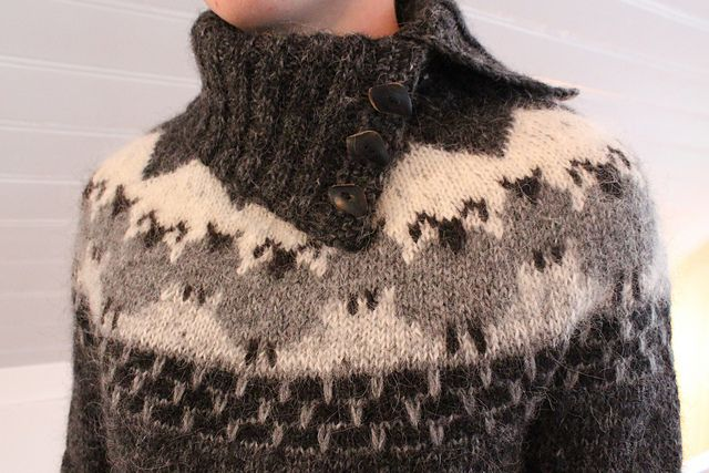 Ravelry: astas' Von ............... not sure that I personally would want all the sheep running around me but love the neckline and maybe one sheep for me... front and right!