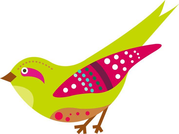 ilustración de un avecilla - bird illustration - color bird