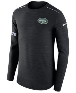 Nike Men's New York Jets Player Top Long Sleeve T-Shirt - Black XXL