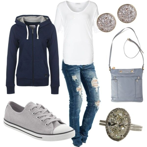 Aspen Travel clothes by sabra628 on Polyvore featuring Strenesse Blue, Bench, Converse, MARC BY MARC JACOBS and Astley Clarke