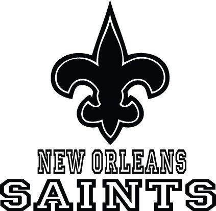 New orleans saints football logo name custom by vinylgrafix