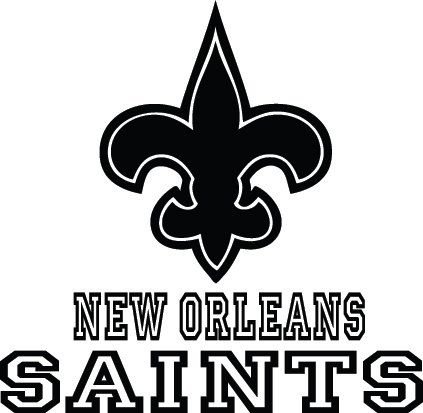 New Orleans Saints Football Logo Name Custom By