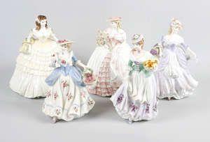 LOT:38   Nine Coalport figurines