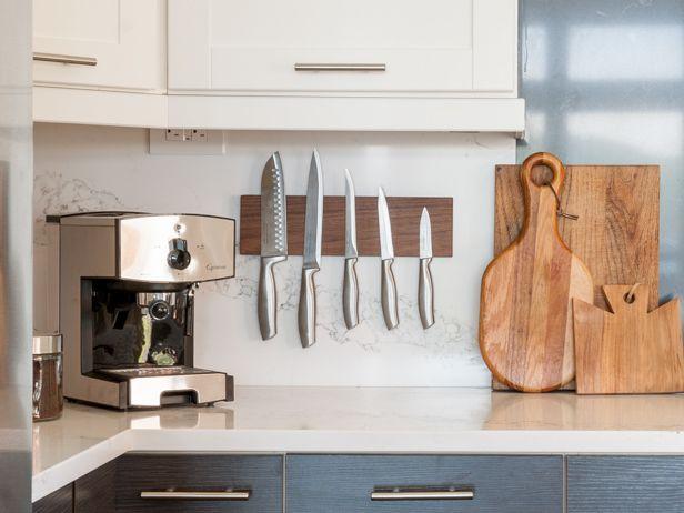 How to Make a Magnetic Knife Holder >> http://blog.diynetwork.com/maderemade/how-to/blog-cabin-2015-diys-how-to-make-a-magnetic-knife-holder/?soc=pinterest