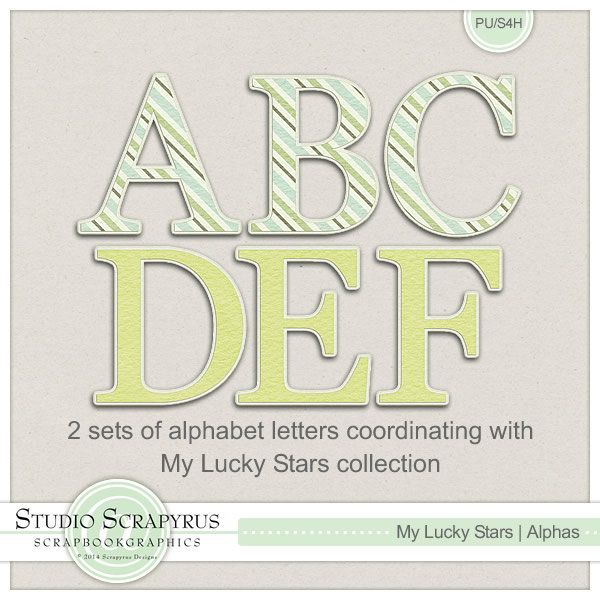 My Lucky Stars | Alphas by Scrapyrus Designs
