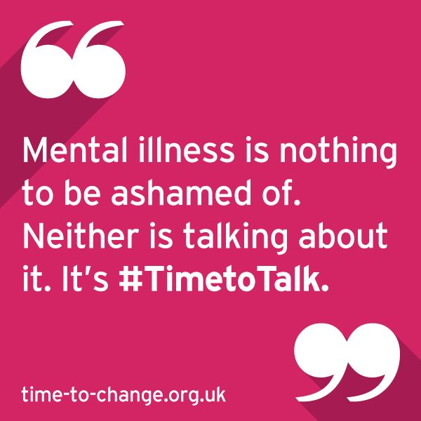 Mental illness is nothing to be ashamed of #mentalhealth #timetotalk theirrationalmind.com