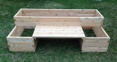 raised bed with bench - I REALLY like this!