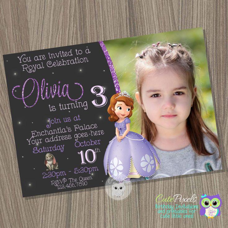 Sofia the first invitation, Princess Sofia Invitation, Princess Birthday Invitation, Sofia the first birthday, Sofia the first party by CutePixels on Etsy