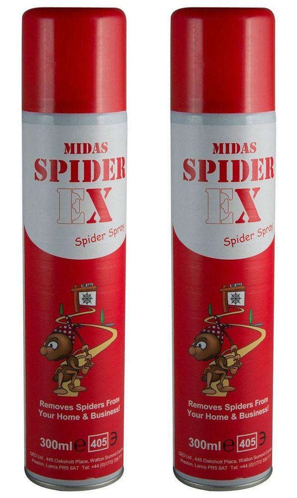 2 x Spiderex Spray Aerosol Repellent Spider Deterrent - Homes/CCTV Cameras/PIRs