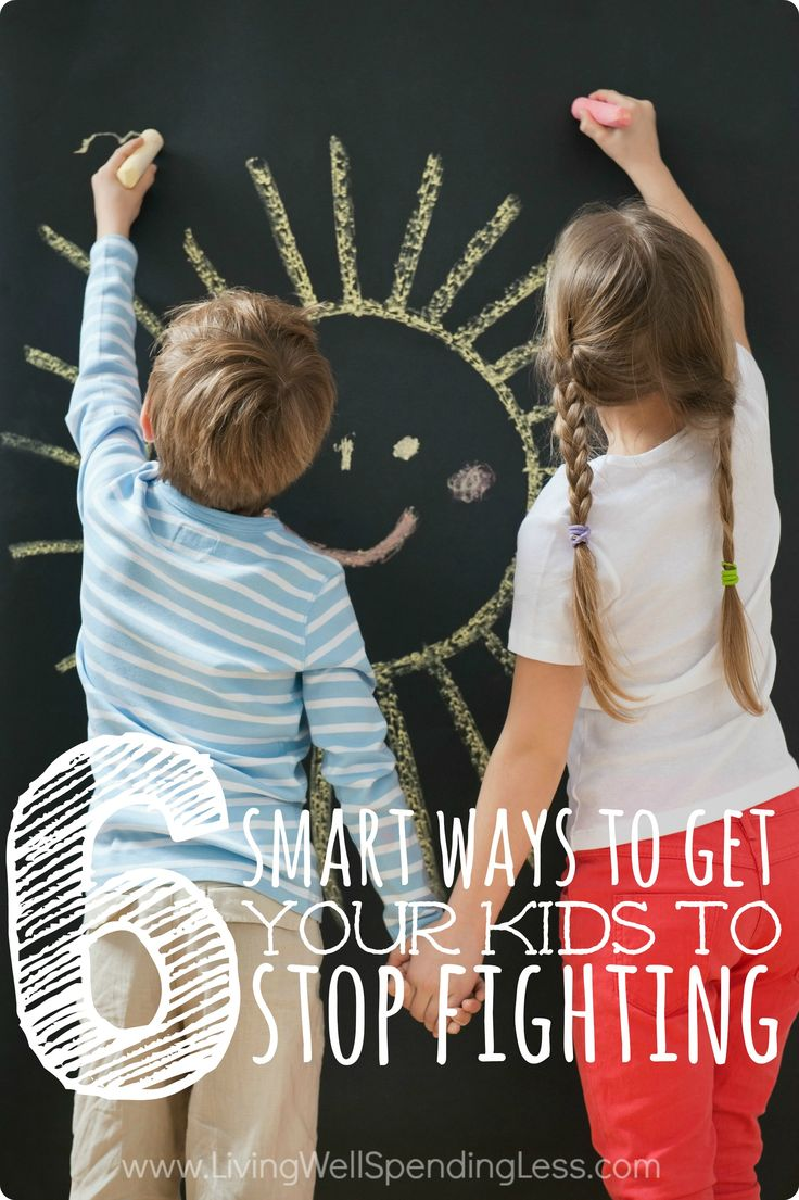 6 Smart Ways to Get Your Kids to Stop Fighting - Living Well Spending Less®