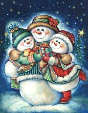 Whimsical and charming holiday, seasonal, notional and American Indian artwork by noted artist Gloria West.