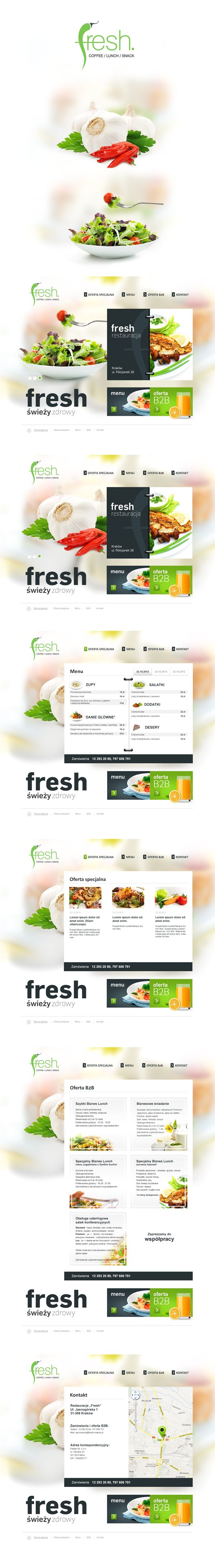 Fresh by Bartłomiej Gęboliś, via Behance | #webdesign #it #web #design #layout #userinterface #website #webdesign < repinned by www.BlickeDeeler.de | Take a look at www.WebsiteDesign-Hamburg.de